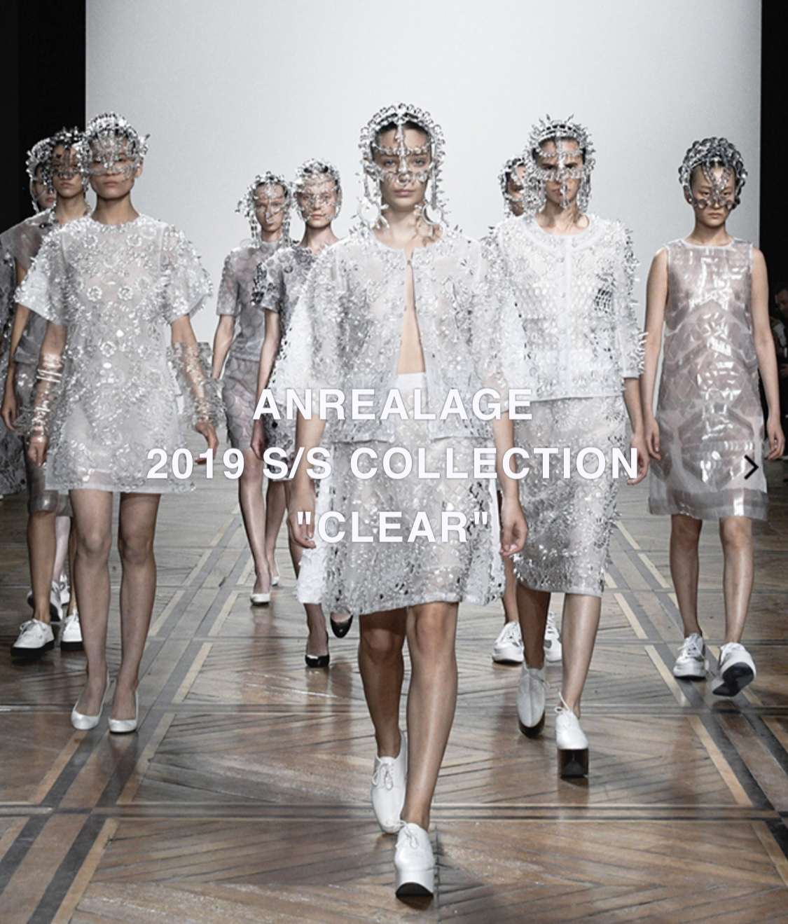 """ANREALAGE 2019 S/S  """" CLEAR """""""